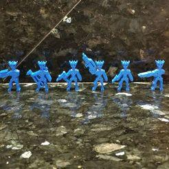 Télécharger modèle 3D gratuit Aliens aquatiques (Meeples), Ellie_Valkyrie