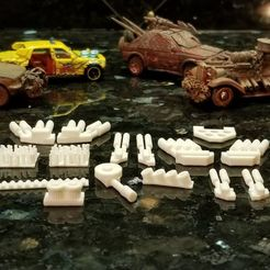 Download free 3D print files Gaslands Greebles #1 (Pipes and Such), Ellie_Valkyrie