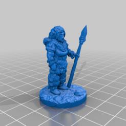 IA_femme_stand_spear.png Télécharger fichier STL gratuit Lanceur de l'ère glaciaire • Plan pour imprimante 3D, Ellie_Valkyrie