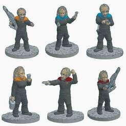 Starfleet_Klingons.jpg Télécharger fichier STL gratuit Officiers klingons de Starfleet • Modèle imprimable en 3D, Ellie_Valkyrie