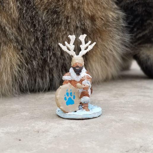 Download STL file Ice Age Kneeling Drum Shaman • 3D printer template, Ellie_Valkyrie