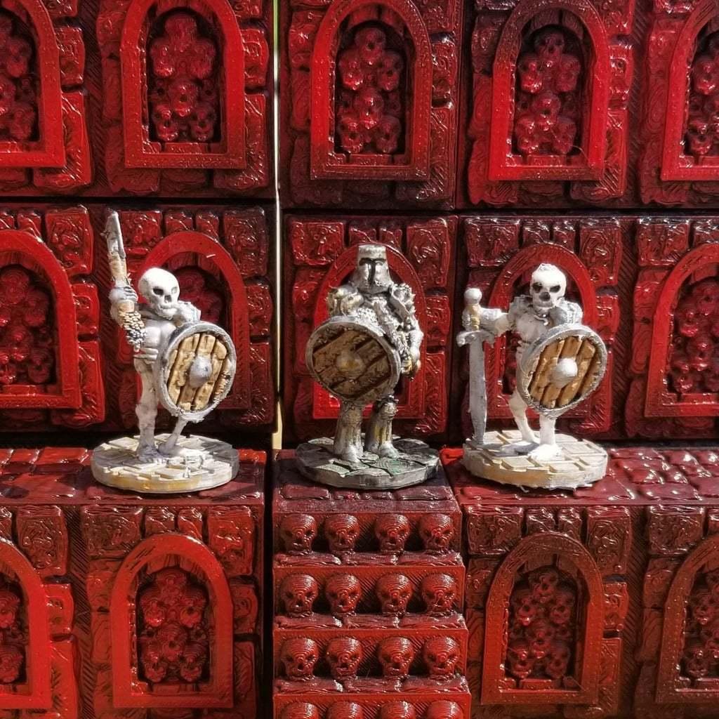 Skull_Alcove_1.jpg Download free STL file Stackable Skull Alcove Terrain • 3D printing template, Ellie_Valkyrie
