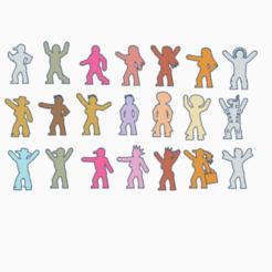 Generic Civilians.png Download STL file Generic Civilian Meeples Pack • 3D print template, Ellie_Valkyrie
