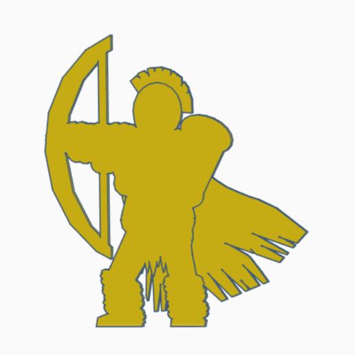 Download STL Barbarian Archer, Ellie_Valkyrie