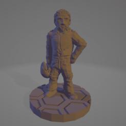 Davidson.png Télécharger fichier STL gratuit Lieutenant Davidson, pilote du TCGND • Modèle à imprimer en 3D, Ellie_Valkyrie