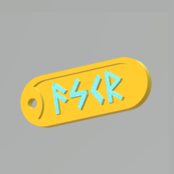 Askr.png Download STL file Askr and Embla Tags • Model to 3D print, Ellie_Valkyrie