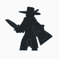 Feather Hat Rogue Dagger Sack.png Download STL file Feather Hat Rogue Dagger Sack Meeple • Template to 3D print, Ellie_Valkyrie