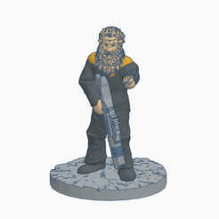 Bearded_Chief_of_Security.png Download free STL file Bearded Chief of Security • 3D printable model, Ellie_Valkyrie