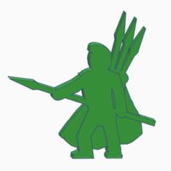 Javelineer v2.png Download STL file Javelineer Meeple (Version 2) • 3D printable object, Ellie_Valkyrie