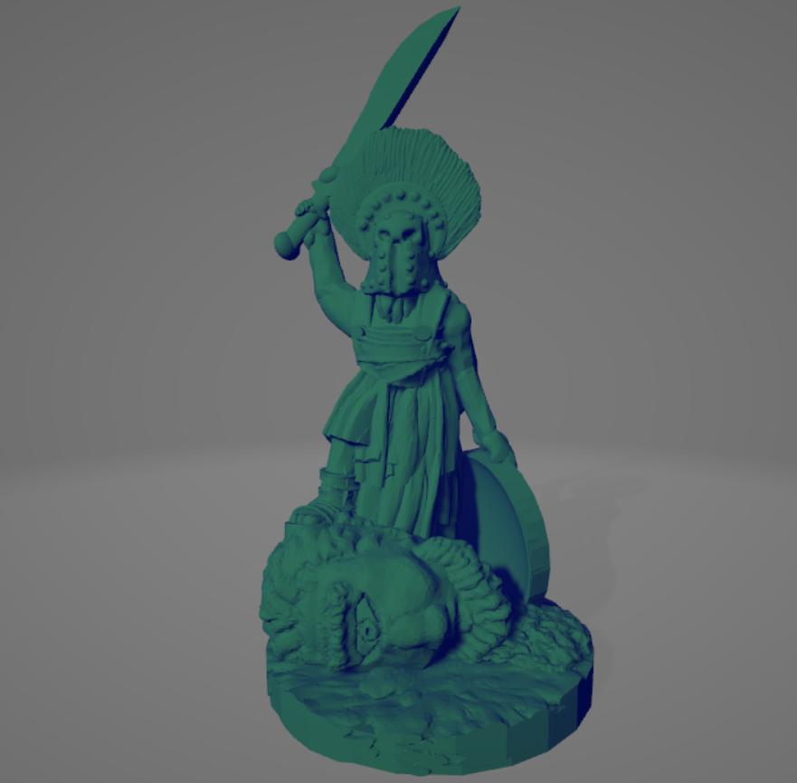 Cyclops Slayer.png Download STL file Amazon Hoplite Cyclops Slayer • 3D printing template, Ellie_Valkyrie