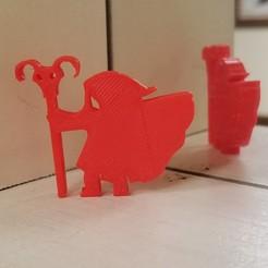 Long Cloak Goat Staff.jpg Télécharger fichier STL Manteau lourd avec bâton de chèvre • Design pour impression 3D, Ellie_Valkyrie