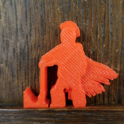 Barbarian Axe At Rest.jpg Download STL file Barbarian Resting His Axe Meeple • 3D printer object, Ellie_Valkyrie