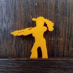 20201117_111620.jpg Download STL file Ponytail Meeple With Shotgun • 3D print model, Ellie_Valkyrie