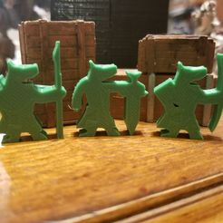 Canid_Soldiers.jpg Download free STL file Canid Soldiers (Meeples) • 3D printer object, Ellie_Valkyrie