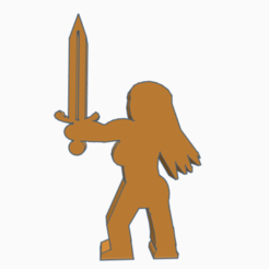 One_Armed_Paladin.png Download free STL file One-Armed Paladin • 3D printable template, Ellie_Valkyrie
