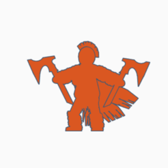 Double Axe Barbarian.png Download STL file Double Axe Barbarian • 3D printer template, Ellie_Valkyrie