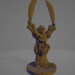 Barbarian Queen.png Download STL file Support-Free Headhunter Barbarian Queen • 3D printing template, Ellie_Valkyrie