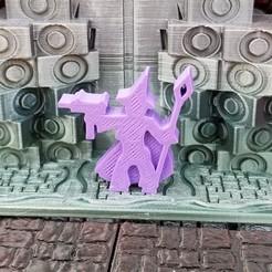 Machinegun Witch.jpg Download STL file Machinegun Witch Meeple • 3D printable object, Ellie_Valkyrie
