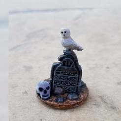 Owl_Grave.jpg Download free STL file Owl Grave • Object to 3D print, Ellie_Valkyrie