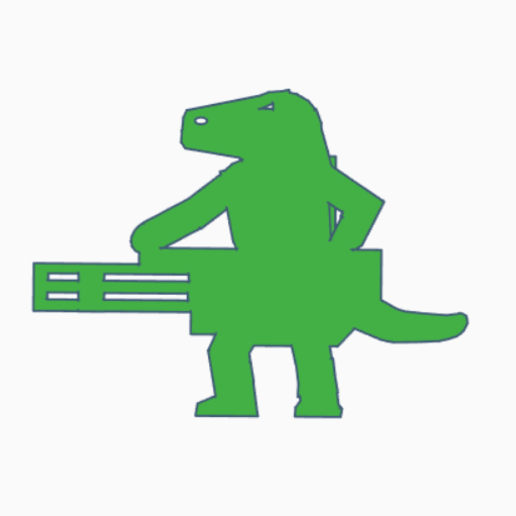 Reptilian Chaingunner.png Download STL file Reptilian Chaingunner Meeple • 3D printable object, Ellie_Valkyrie