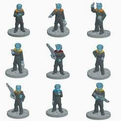 Andorians.jpg Télécharger fichier STL gratuit Starfleet Andoriens • Objet pour imprimante 3D, Ellie_Valkyrie