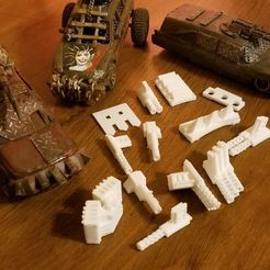 Descargar diseños 3D gratis Gaslands Greebles #3 (Mantenimiento por percusión), Ellie_Valkyrie