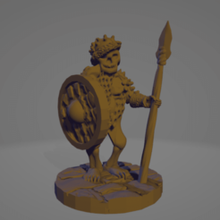 Spiky Cap Spear Shield Skeleton.png Download STL file Skeletal Northman Sentry • Design to 3D print, Ellie_Valkyrie