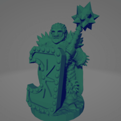 Northern Warrior Big Spiky Mace.png Download STL file Northern Warrior With Big Spiky Mace • 3D printable object, Ellie_Valkyrie