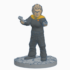 Bajoran_Starfleet_Officer.png Télécharger fichier STL gratuit Une femme bajorane, officier de Starfleet • Plan imprimable en 3D, Ellie_Valkyrie