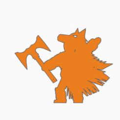 wolf headdress double axe.png Télécharger fichier STL Double Hache Ulfhednar • Objet pour imprimante 3D, Ellie_Valkyrie
