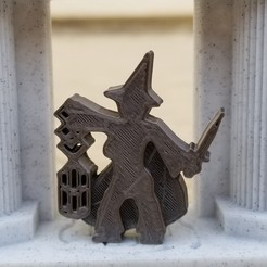 Witch Lantern Dagger.jpg Download STL file Witch Meeple With Lantern and Knife • 3D printing design, Ellie_Valkyrie
