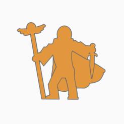 Winged Staff Stabby Warlock.png Télécharger fichier STL Le personnel ailé poignarde le sorcier Meeple • Modèle imprimable en 3D, Ellie_Valkyrie