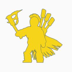 Barbarian Torchbearer.png Download STL file Barbarian Torchbearer • 3D printing design, Ellie_Valkyrie