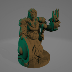 Barbarian Sorceress.png Download STL file Barbarian Sorceress • 3D printable model, Ellie_Valkyrie
