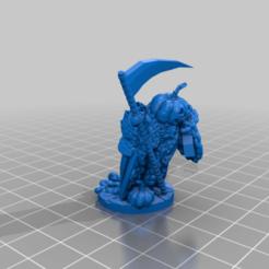 Pumpkin_Headstone_Wraith.png Télécharger fichier STL gratuit Le Wraith de la citrouille • Modèle imprimable en 3D, Ellie_Valkyrie