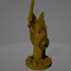 Valkyrie.png Download STL file Support-Free Valkyrie • 3D printing design, Ellie_Valkyrie