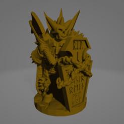 Undead Knight sm Axe.png Télécharger fichier STL Un lourd raider mort-vivant • Design à imprimer en 3D, Ellie_Valkyrie