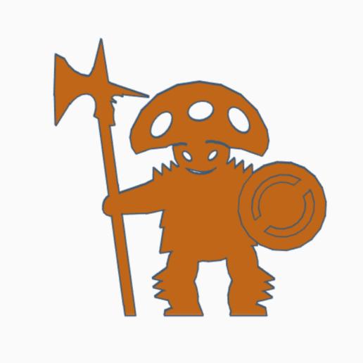 Download 3D printing files Mushroom Man Halberd Warrior Meeple, Ellie_Valkyrie