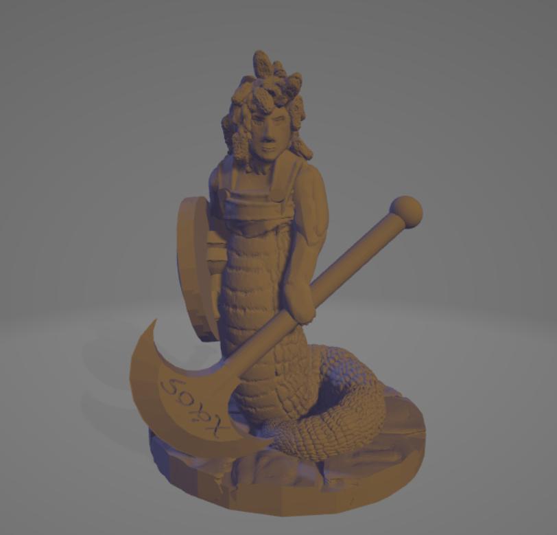 Medusa Executioner.png Download STL file Executioner Medusa (Support-Free) • 3D printer template, Ellie_Valkyrie