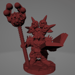 Surt-Sworn Sorceror.png Download STL file Surt-Sworn Dwarf Sorcerer • 3D printable template, Ellie_Valkyrie