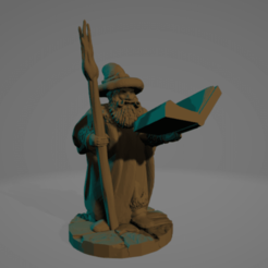 Wise Old Wizard.png Download STL file Wise Old Wizard • Model to 3D print, Ellie_Valkyrie