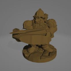 Dwarven Crossbowman.png Download STL file Dwarven Crossbowman • 3D print design, Ellie_Valkyrie