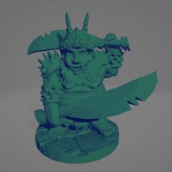 Orquindi Double Chopper.png Download STL file Orquindi Double Chopper • 3D printer template, Ellie_Valkyrie