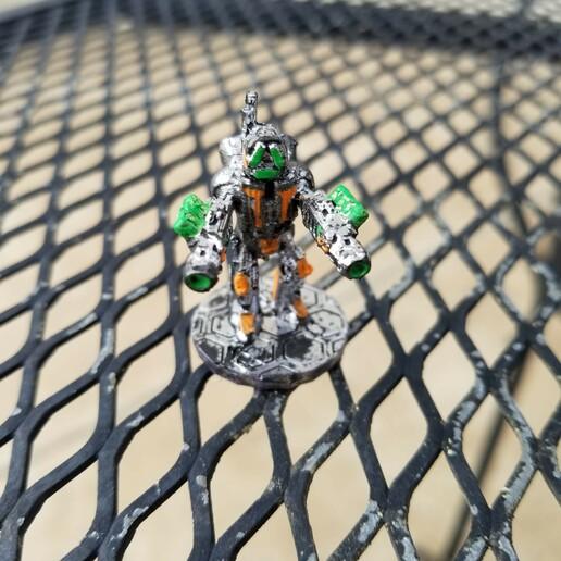 RobotTwinPlasmaRifles.jpg Download STL file Assault Robot Soldier • 3D printing object, Ellie_Valkyrie