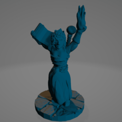 Support-Free Sorceress.png Download STL file Support-Free Sorceress • 3D printer model, Ellie_Valkyrie