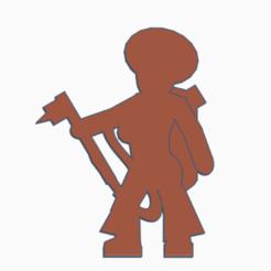 Disco Femme Welder.png Download STL file Disco Femme Welder Meeple • 3D print object, Ellie_Valkyrie