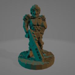 Turbaned_Shotgun_Commander.png Télécharger fichier STL gratuit Commandant de fusil de chasse turbanisé (Pas besoin de soutien !) • Plan pour impression 3D, Ellie_Valkyrie