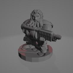 Male_Shotgun_Dwarf.png Télécharger fichier STL gratuit Un nain de l'espace avec un fusil de chasse • Plan à imprimer en 3D, Ellie_Valkyrie