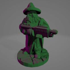 Shotgun Wizard.png Download STL file Shotgun Wizard Miniature • 3D print object, Ellie_Valkyrie