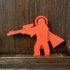 Astronaut Sniper.jpg Download STL file Astronaut Sniper Meeple • 3D print template, Ellie_Valkyrie